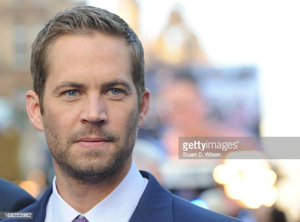 Actor Paul Walker attends the Fast Furious 6 World Premiere at The Empire Leicester Square on May 7 2013 in London England
