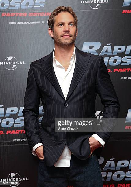 Actor Paul Walker attends the 'Fast Furious' photo call at the Marriot Hotel on March 27 2009 in Mexico City