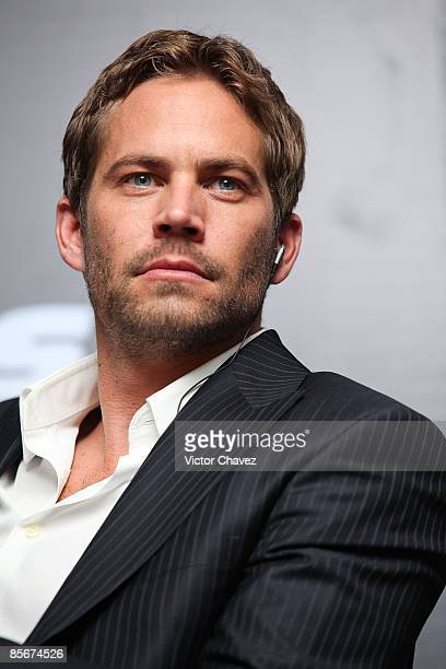 Actor Paul Walker attends the 'Fast Furious' press conference at the Marriot Hotel on March 27 2009 in Mexico City