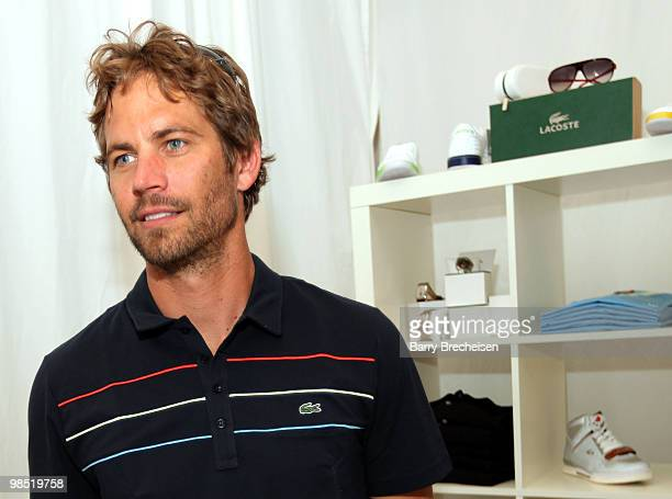 Actor Paul Walker attends the LACOSTE Pool Party during the 2010 Coachella Valley Music Arts Festival on April 17 2010 in Indio California
