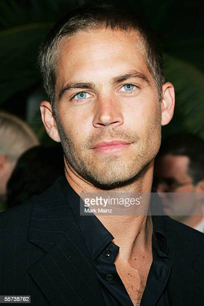 Actor Paul Walker attends the premiere of Sony Pictures Into the Blue at the Mann Village Theatre on September 21 2005 in Westwood California