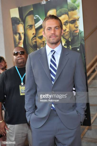 Actor Paul Walker attends the Takers premiere at Regal Atlantic Station on August 24 2010 in Atlanta Georgia