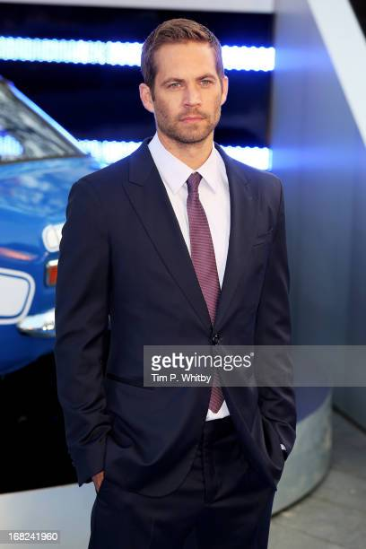 Actor Paul Walker attends the World Premiere of 'Fast & Furious 6' at Empire Leicester Square on May 7, 2013 in London, England.
