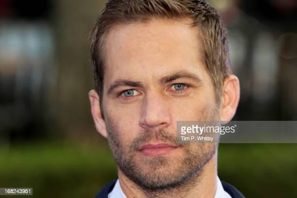 Actor Paul Walker attends the World Premiere of 'Fast Furious 6' at Empire Leicester Square on May 7 2013 in London England