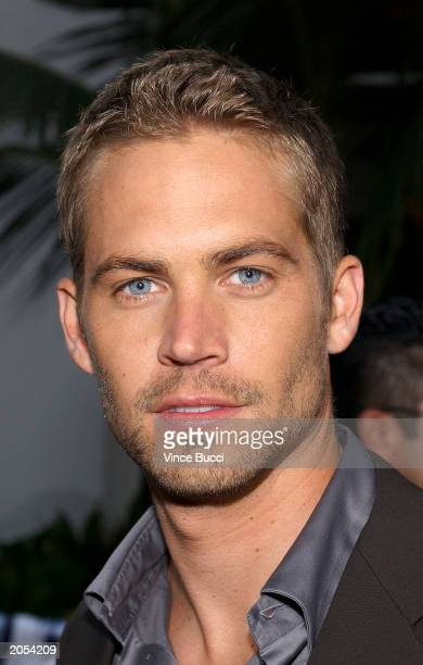 Actor Paul Walker attends the world premiere of the film 2 Fast 2 Furious on June 3 2003 at Universal Studios Hollywood