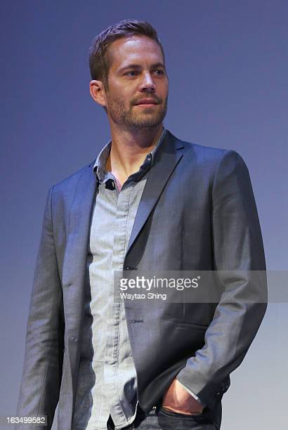 Actor Paul Walker speaks onstage at the Hours QA during the 2013 SXSW Music Film Interactive Festival at Topfer Theatre at ZACH on March 10 2013 in...