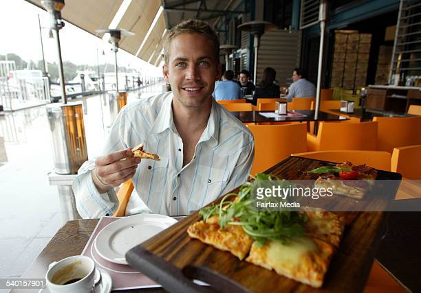 Actor Paul Walker who stars in the movie 2 Fast 2 Furious at the Finger Wharf in Woolloomooloo Sydney 13 May 2003 SHD Picture by SIMON ALEKNA
