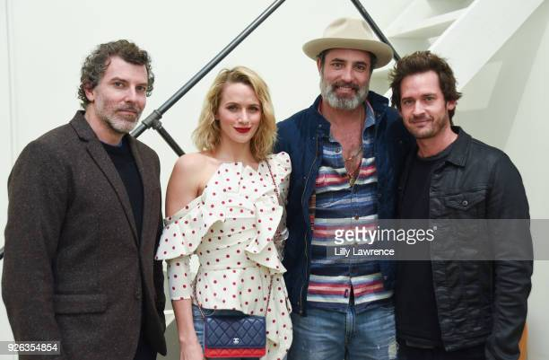 Actor Paul Walling, model Shantel VanSanten, actor Victor Webster, and actor Will Kemp attend Charcoal Collection by Corran Brownlee opening...