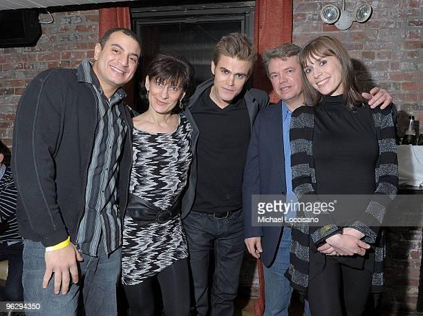"Actor Paul Wesley and brother-in-law Rhamy Emara, mother Agnieshka Wasilewski, father Thomas Wasilewski and sister Monika Emara attend the ""Love..."