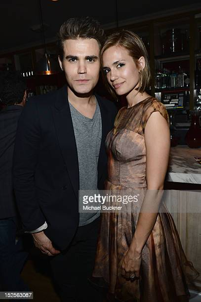 Actor Paul Wesley and Torrey DeVitto attend The 2012 Entertainment Weekly PreEmmy Party Presented By L'Oreal Paris at Fig Olive Melrose Place on...