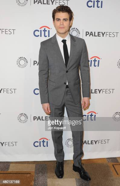 Actor Paul Wesley arrives at the 2014 PaleyFest The Vampire Diaries The Originals on March 22 2014 in Hollywood California