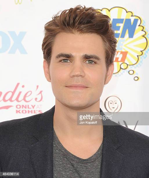Actor Paul Wesley arrives at the 2014 Teen Choice Awards at The Shrine Auditorium on August 10 2014 in Los Angeles California