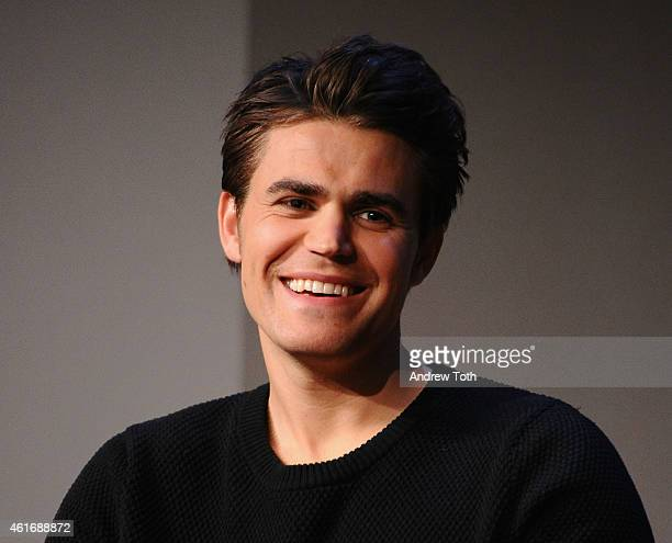 Actor Paul Wesley attends Apple Store Soho Presents Meet The Filmmakers Paul Wesley Dina Shihabi and Sean Mullin Amira And Sam at Apple Store Soho on...