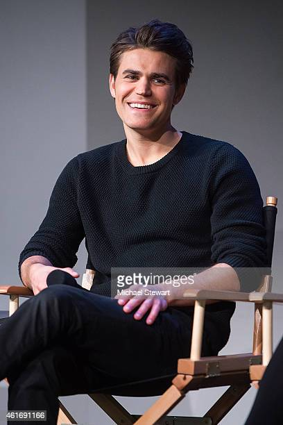 Actor Paul Wesley attends Apple Store Soho Presents Meet The Filmmakers Paul Wesley Dina Shihabi and Sean Mullin 'Amira And Sam' at Apple Store Soho...