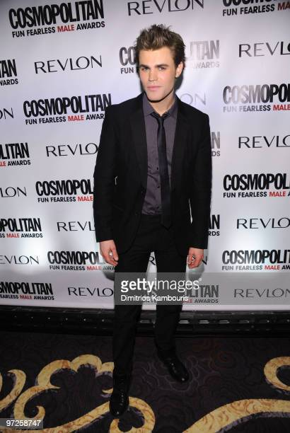 Actor Paul Wesley attends Cosmopolitan Magazine's Fun Fearless Males of 2010 at the Mandarin Oriental Hotel on March 1 2010 in New York City