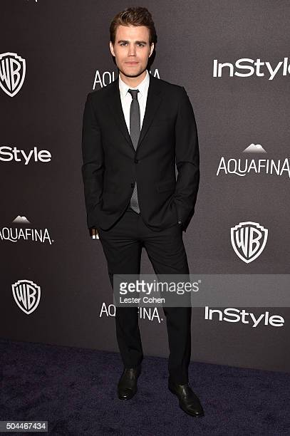 Actor Paul Wesley attends InStyle and Warner Bros 73rd Annual Golden Globe Awards PostParty at The Beverly Hilton Hotel on January 10 2016 in Beverly...