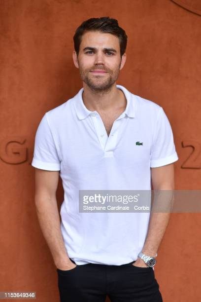 Actor Paul Wesley attends the 2019 French Tennis Open Day Ten at Roland Garros on June 04 2019 in Paris France