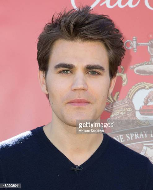 Actor Paul Wesley attends the Old Spice Scent Responsibly campaign launch at The Grove on January 13 2014 in Los Angeles California