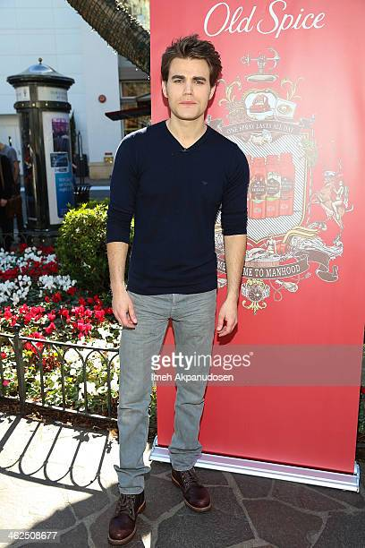 Actor Paul Wesley attends the Old Spice 'Scent Responsibly' campaign launch at The Grove on January 13 2014 in Los Angeles California