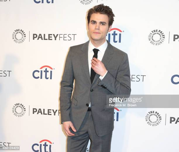 Actor Paul Wesley attends The Paley Center for Media's PaleyFest 2014 Honoring The Vampire Diaries and The Originals at the Dolby Theatre on March 22...