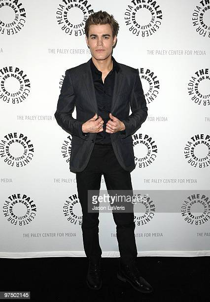 Actor Paul Wesley attends The Vampire Diaries event at the 27th annual PaleyFest at Saban Theatre on March 6 2010 in Beverly Hills California