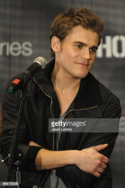 Actor Paul Wesley attends 'The Vampire Diaries' Hot Topic tour at Hot Topic on February 13 2010 in Canoga Park California