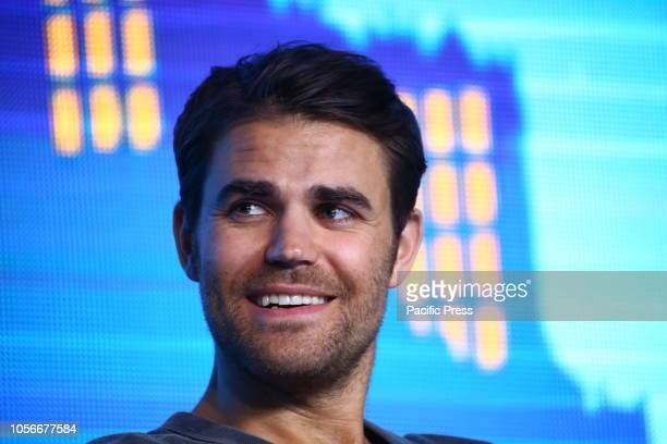 Actor Paul Wesley attends the Warsaw Comic Con.