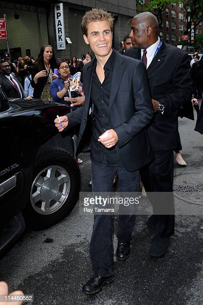 Actor Paul Wesley leaves Jazz At Lincoln Center on May 19 2011 in New York City