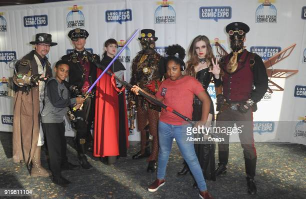Actor PaulMikél Williams and actress Jessica Mikayla Adams attend day 1 of the 8th Annual Long Beach Comic Expo held at Long Beach Convention Center...