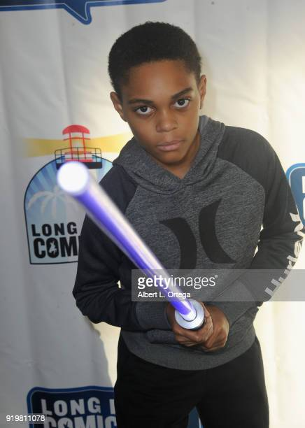 Actor PaulMikél Williams attends day 1 of the 8th Annual Long Beach Comic Expo held at Long Beach Convention Center on February 17 2018 in Long Beach...