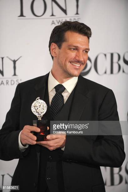 Actor Paulo Szot poses in the press room during the 62nd Annual Tony Awards at Radio City Music Hall on June 15 2008 in New York City