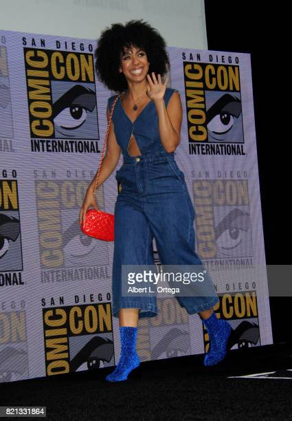 Actor Pearl Mackie during 2017 ComicCon International at San Diego Convention Center on July 23 2017 in San Diego California