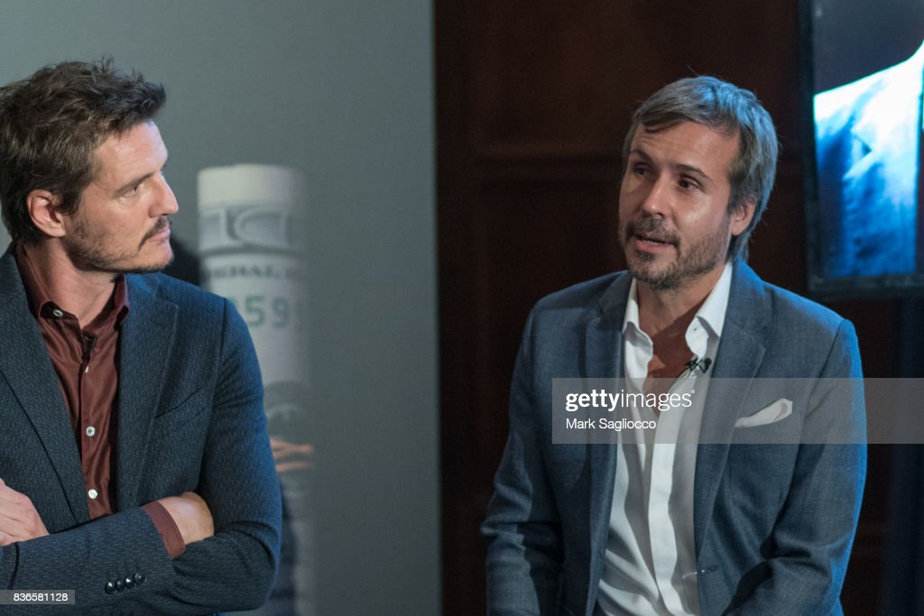 Actor Pedro Pascal and Film Director Andi Baiz attend 'Narcos' Season 3 New York Screening Panel Discussion at The Explorer's Club on August 21, 2017 in New York City.