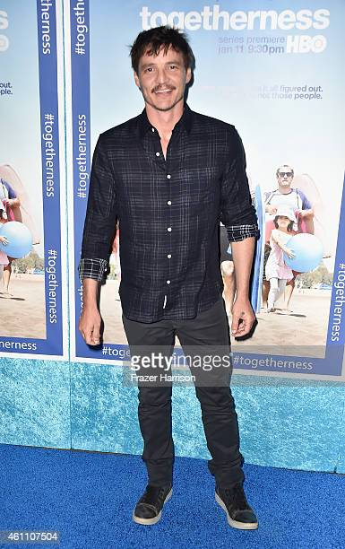 Actor Pedro Pascal arrives at the Premiere of HBO's 'Togetherness' at Avalon on January 6 2015 in Hollywood California
