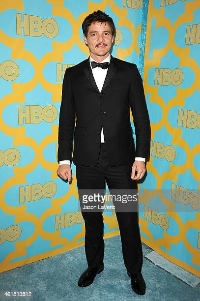 Actor Pedro Pascal attends HBO's post Golden Globe Awards party at The Beverly Hilton Hotel on January 11 2015 in Beverly Hills California
