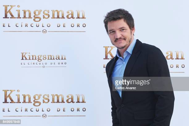 Actor Pedro Pascal attends 'Kingsman: El Circulo De Oro' photocall at the Palacio de los Duques Hotel on September 20, 2017 in Madrid, Spain.