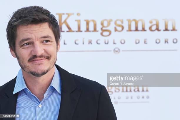 Actor Pedro Pascal attends 'Kingsman El Circulo De Oro' photocall at the Palacio de los Duques Hotel on September 20 2017 in Madrid Spain