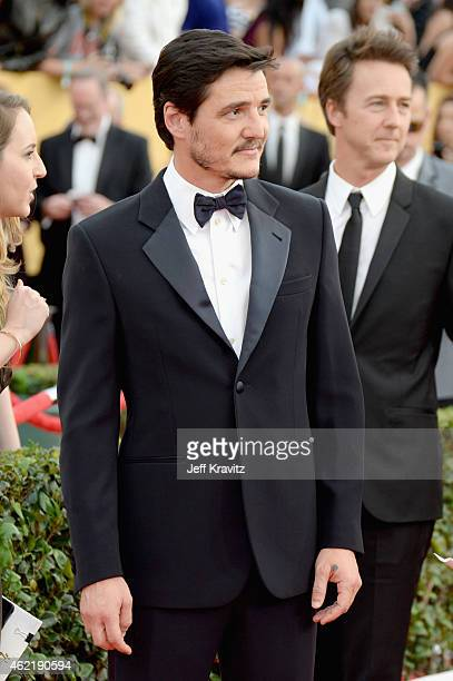 Actor Pedro Pascal attends the 21st Annual Screen Actors Guild Awards at The Shrine Auditorium on January 25 2015 in Los Angeles California