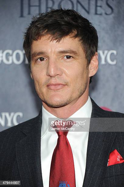 Actor Pedro Pascal attends the Game Of Thrones Season 4 New York premiere at Avery Fisher Hall Lincoln Center on March 18 2014 in New York City