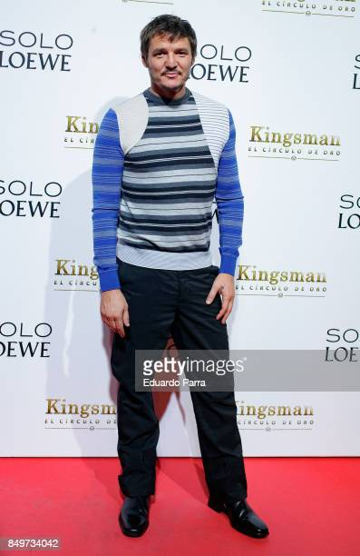 Actor Pedro Pascal attends the 'Kingsman El Circulo De Oro' premiere at Callao cinema on September 19 2017 in Madrid Spain