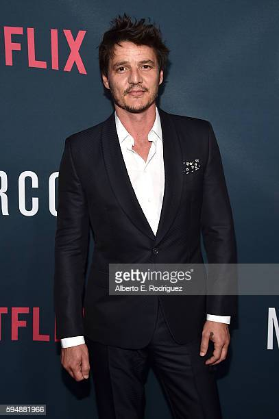 Actor Pedro Pascal attends the Season 2 premiere of Netflix's Narcos at ArcLight Cinemas on August 24 2016 in Hollywood California