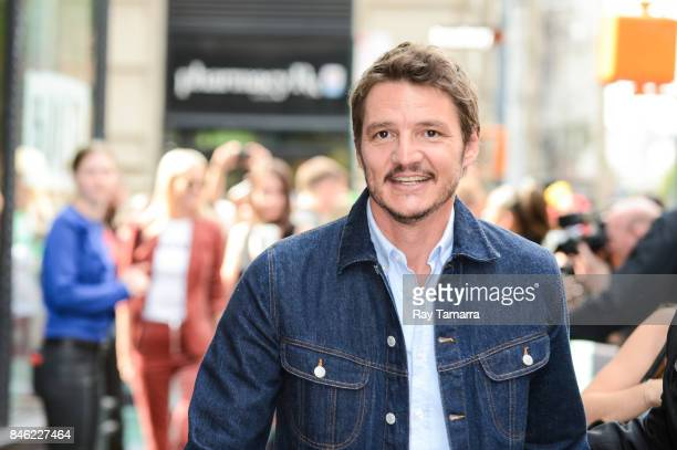 Actor Pedro Pascal leaves the AOL Build taping at the AOL Studios on September 12 2017 in New York City
