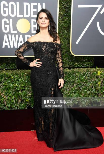 Actor Penelope Cruz attends The 75th Annual Golden Globe Awards at The Beverly Hilton Hotel on January 7 2018 in Beverly Hills California