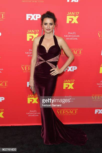 Actor Penelope Cruz attends the premiere of FX's The Assassination Of Gianni Versace American Crime Story at ArcLight Hollywood on January 8 2018 in...