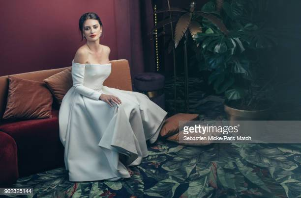 Actor Penelope Cruz is photographed at the 71st Cannes Film Festival wearing a Dior dress and Swarovski jewellery for Paris Match on May 10 2018 in...