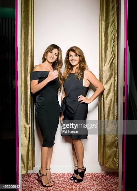 Actor Penelope Cruz is photographed with her sister Monica Cruz for the Observer on September 4 2015 in London England