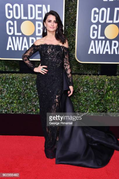 Actor Penélope Cruz attends The 75th Annual Golden Globe Awards at The Beverly Hilton Hotel on January 7 2018 in Beverly Hills California