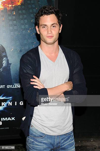 Actor Penn Badgley arrives at the world premiere of The Dark Knight at AMC Loews Lincoln Square IMAX on July 14 2008 in New York City