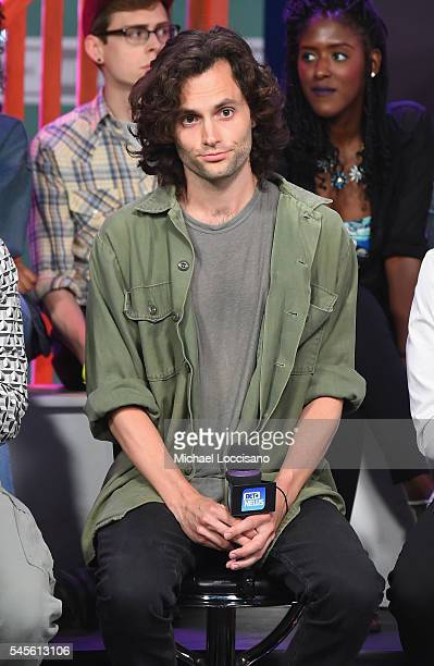 Actor Penn Badgley attends a live taping of What Now an MTV News and BET News town hall on America in crisis at the MTV Studios on July 8 2016 in New...