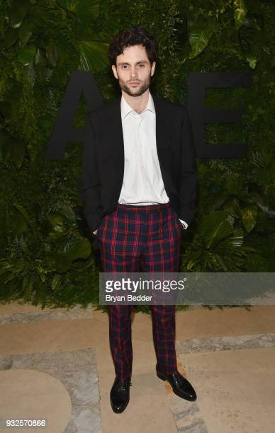 Actor Penn Badgley attends the 2018 AE Upfront on March 15 2018 in New York City